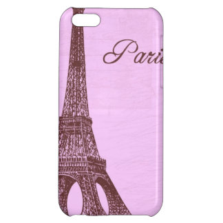 Girly Vintage Pink Paris iPhone 5C Cases