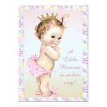 Girly Vintage Princess Floral Baby Shower 13 Cm X 18 Cm Invitation Card