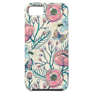 Girly Vintage Rose Garden Flower Pattern Case For The iPhone 5