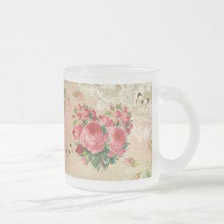 Girly Vintage Rose Heart Collage Mug