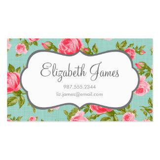Girly Vintage Roses Floral Print Pack Of Standard Business Cards