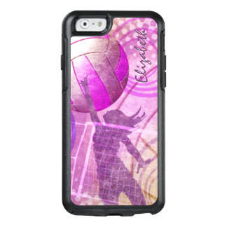 Girly Volleyball hot pink purple OtterBox iPhone 6/6s Case