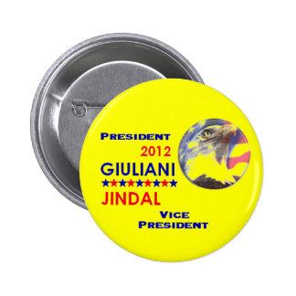 GIULIANI JINDAL 2012 Button