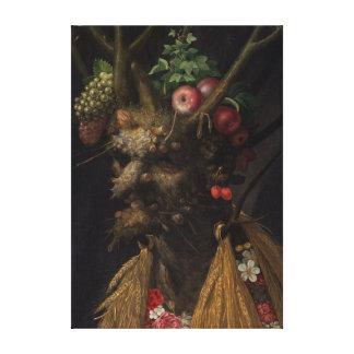 Giuseppe Arcimboldo Four Seasons in One Head Canvas Print