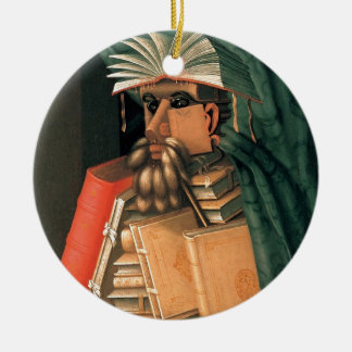Giuseppe Arcimboldo's Librarian Round Ceramic Decoration