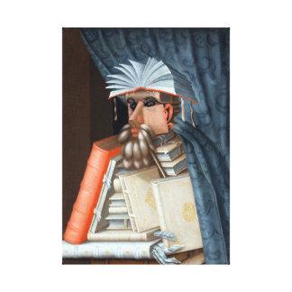 Giuseppe Arcimboldo The Librarian Canvas Print