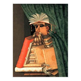 Giuseppe Arcimboldo -- the Librarian Postcard