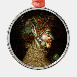 Giuseppe Arcimboldo's The Summer (1563) Silver-Colored Round Decoration