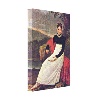 Giuseppe Campani - Queen in tradiontal costume Stretched Canvas Print