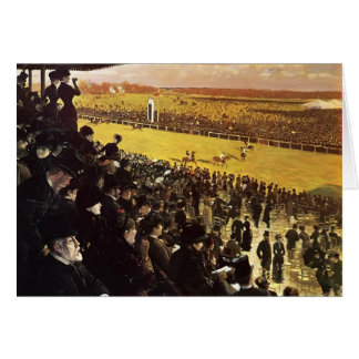 Giuseppe Nittis- The Races at Longchamps Greeting Card