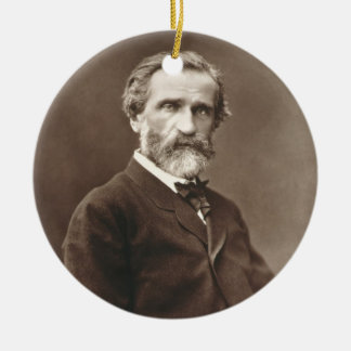 Giuseppe Verdi (1813-1901) from 'Galerie Contempor Round Ceramic Decoration