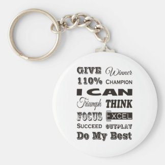 Give 110% Inspirational Motivational Key Ring
