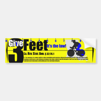 Give 3 Feet Louisiana Bumper Sticker