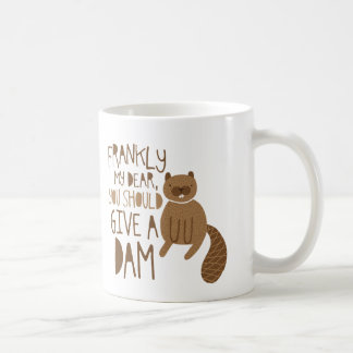 """Give a Dam"" Beaver Coffee Mug"