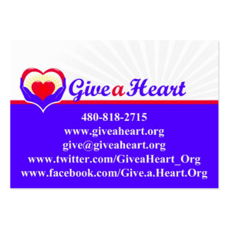 Give a Heart charity cards Pack Of Chubby Business Cards