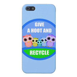 give a hoot and recycle iPhone 5 cover