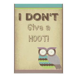 Give a Hoot Card