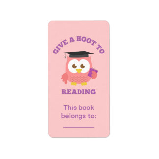 Give a Hoot to Reading, Book Owl Label