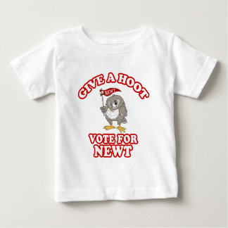 Give A Hoot Vote For Newt Baby T-Shirt