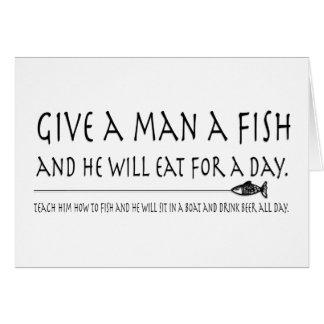 Give a Man a Fish Card