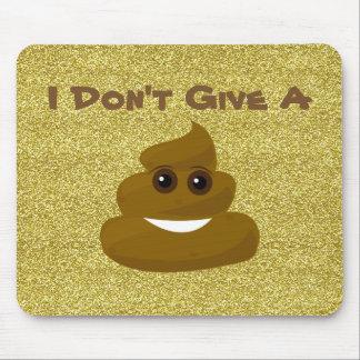 Give A Poop Glitter Emoji Mousepad