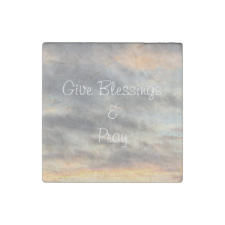 Give Blessings & Pray Sunset Magnet