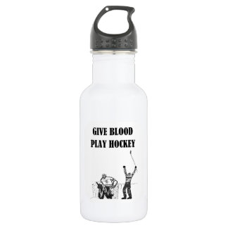 Give Blood Play Hockey 532 Ml Water Bottle