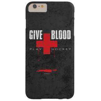 Give Blood Play Hockey Barely There iPhone 6 Plus Case