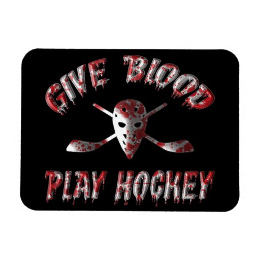 Give Blood Play Hockey Flexi Magnet