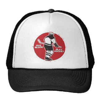 Give Blood Play Hockey Mesh Hats