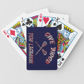 Give Blood Play Hockey Playing Cards