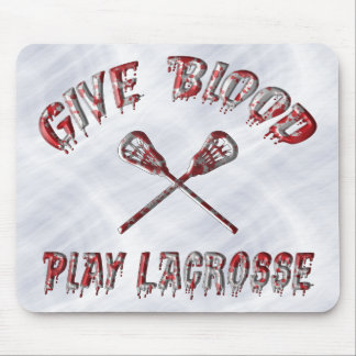 Give Blood Play Lacrosse Mousemat