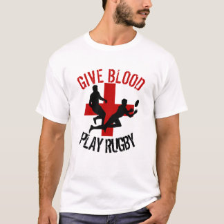 Give Blood Play Rugby Humour T-Shirt