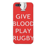 Give Blood Play Rugby iPhone 5 Cases