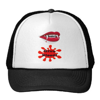 Give Blood - To A Vampire Mesh Hats