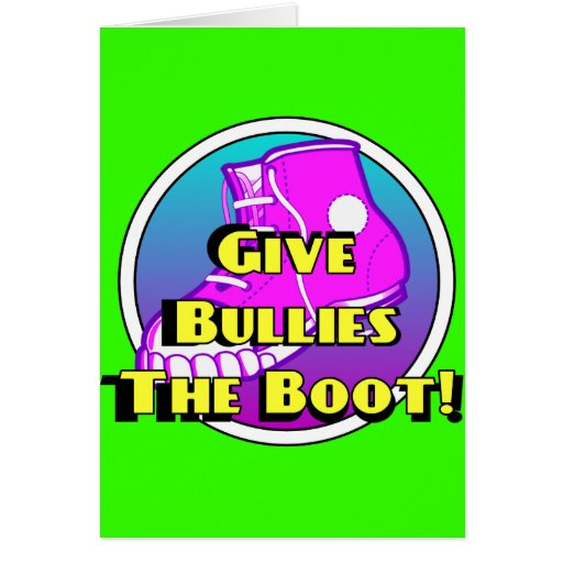 Give Bullies The Boot Product Cards