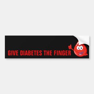 Give Diabetes the Finger Bumper Sticker