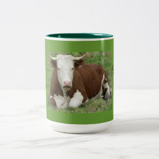 Give 'Em the Bird For Thanksgiving! Two-Tone Mug