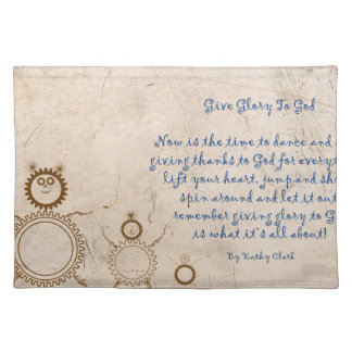Give Glory to God Poem by Kathy Clark Place Mats