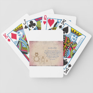 Give Glory to God Poem by Kathy Clark Poker Deck