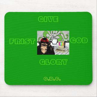 GIVE GOD THE GLORY MOUSE PAD- RETRO STYLE MOUSE PAD