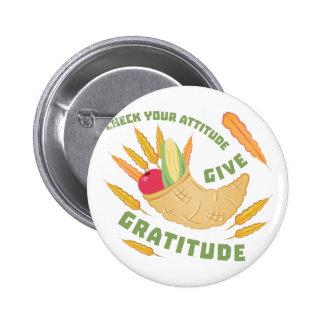 Give Gratitude 6 Cm Round Badge