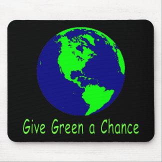 """Give Green a Chance"" Mousepad"