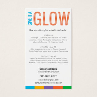 GIVE IT A GLOW - Mini Facial Instruction Card