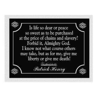 Give Liberty or give me death - postcard