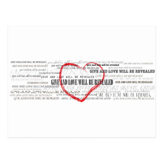 Give Love Inspirational post card
