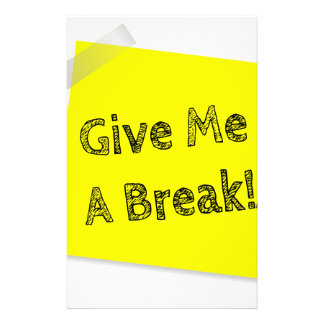 Give me a break customised stationery