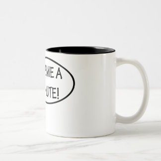 Give me a minute! Two-Tone coffee mug