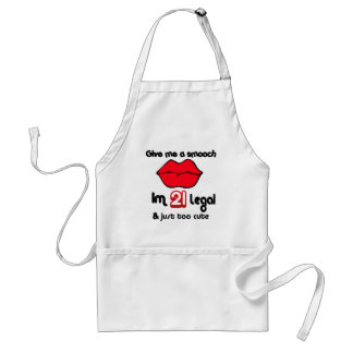 Give Me A Smooch I'm 21 Legal And Just Too Cute Standard Apron