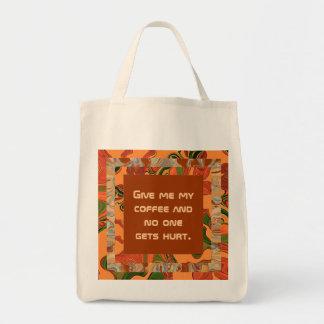 give me coffee canvas bag